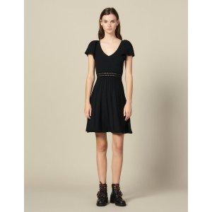 Sandro黑色针织裙
