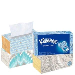 $4.94史低价:Kleenex 特柔面巾纸144抽4盒