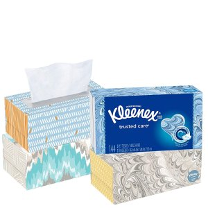 $5.69Kleenex Trusted Care Facial Tissues Flat Box, 144 Count, Pack of 4