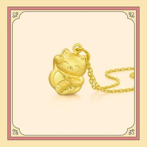 低至5折 黄金手镯免工费Chow Sang Sang 夏季首饰配饰闪购 白贝母玫瑰金项链$229