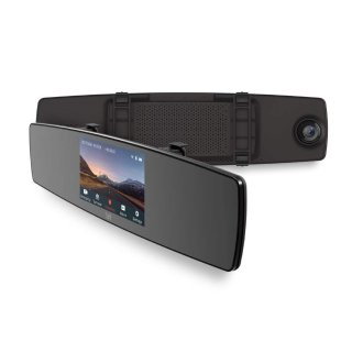 $63.99YI Mirror Dash Cam, Dual Dashboard Camera Recorder with Touch Screen, Front Rear View HD Camera, G Sensor, Reverse Monitor, Loop Recording