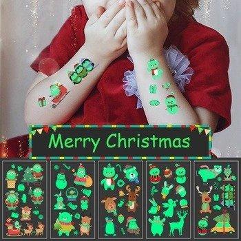 圣诞贴纸纹身