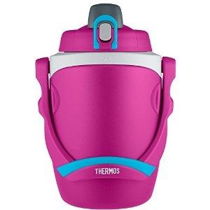 $15.34(原价$19.99)Thermos 超大容量水壶 64oz 粉色