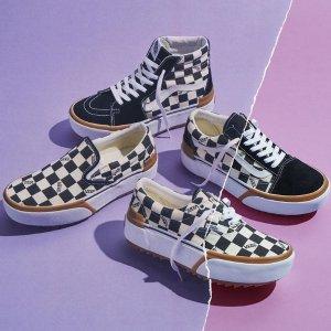 低至3折 滑板潮鞋$40收Vans官网 季末特卖启动 经典棋盘格多款白菜价