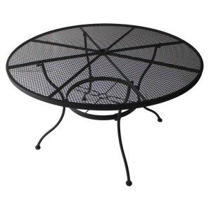 $49Garden Treasures Davenport 48-in W x 48-in L Round Steel Dining Table