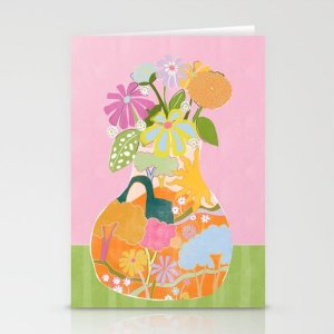 Society6Colourful Garden Stationery Cards by aljahorvat