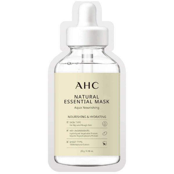 AHC Natural Essential Face Mask Hydrating and Nourishing for Tired Skin