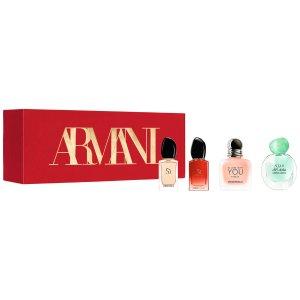 直接8折Armani阿玛尼 圣诞Q版女士香水礼盒 4瓶仅€29 每瓶仅€7