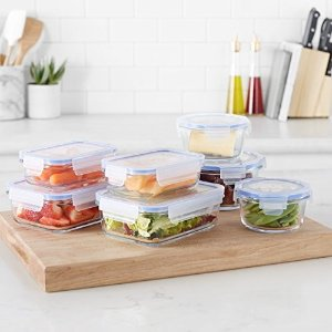 AmazonBasics4.7折!可进烤箱、微波炉、冰箱、洗碗机玻璃保鲜盒 7套