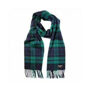 Gretna Green 蓝绿格纹羊绒围巾