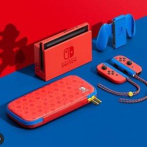 NintendoSwitch 马里奥红蓝限定款