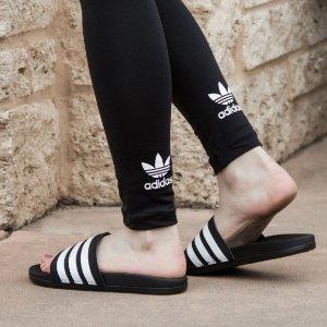 额外7折+包邮  $12.6起收adidas 好看好穿又便宜的时尚拖鞋快来收