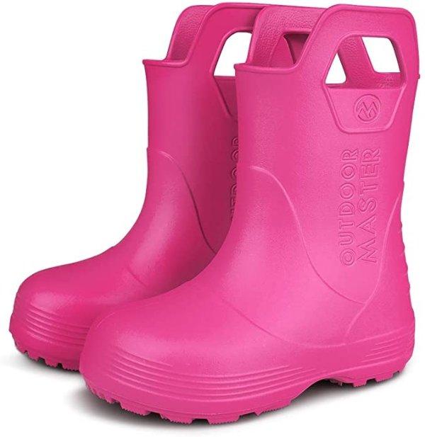 小童带提手雨靴