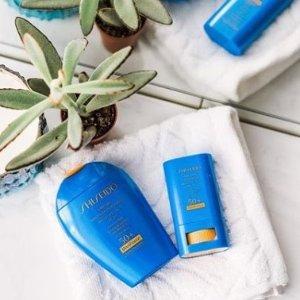 满额享8.5折+送好礼最后一天:Shiseido 美妆护肤品热卖 收蓝胖子防晒