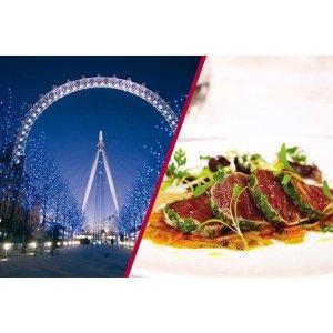 Buyagift码:23DEALMBAG伦敦眼+米其林餐厅 双人票
