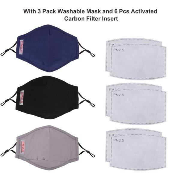流感防护口罩 3个 送6个替换芯