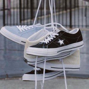 低至5折+额外7.5折+无门槛包邮Converse官网 经典帆布鞋、潮拖等促销 Chuck70也参加