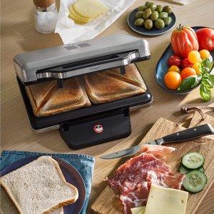 现价€59.99(原价€79.99)WMF Lono 三明治制作机/烘烤机 一次做两份美滋滋