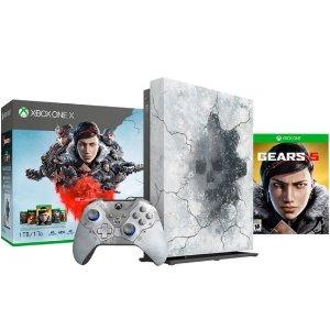 $349.99 再送$30 Best Buy 礼卡Xbox One X 1TB 战争机器5 限量款套装