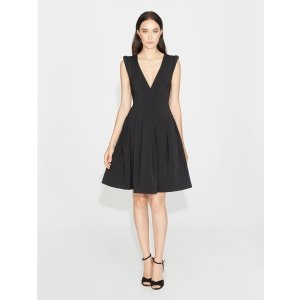 HalstonStretch Faille Dress with Seams