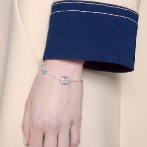 £155收爱心logo手链Gucci 首饰上新 复古潮流 平价买大牌 收双G耳钉、手链