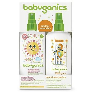 BabyGanics 2-Pack Mineral-Based Sunscreen Spray + Natural Insect Repellent