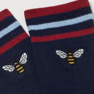 买2双送1双H&M 精选男士超可爱花袜子火热特卖