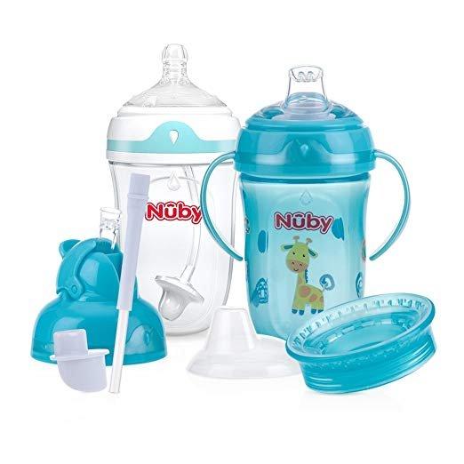 6阶段婴儿重力吸管杯,鸭嘴杯多合一套装