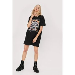 Nasty GalWelcome to the Space Jam Graphic T-Shirt Dress