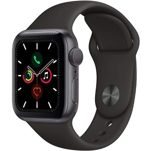 AppleWatch Series 5 (GPS, 40mm) - Space Gray Aluminum Case with Black Sport Band