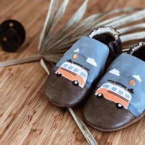 5折起Robeez  婴儿服饰鞋履促销 学步鞋接近光脚感,适合学走路