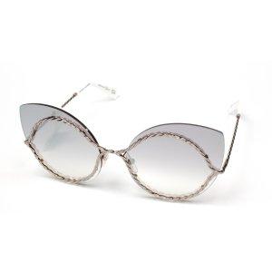 c17cd2df4fa Marc JacobsGray Mirror Shaded Silver Cat Eye Ladies Sunglasses Gray Mirror  Shaded Silver Cat Eye Ladies
