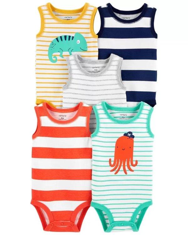 婴儿背心式包臀衫5件套
