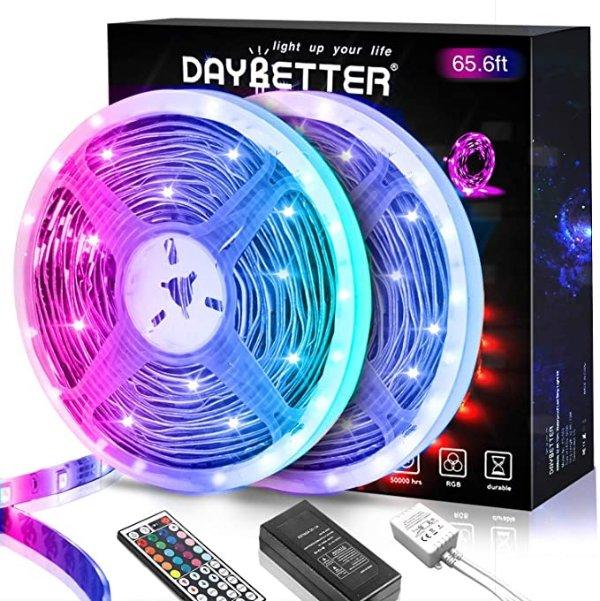 65.6英尺LED灯带灯,变色5050 RGB