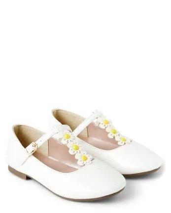 女童白色小皮鞋
