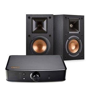 35999 Klipsch Powergate Amplifier R 14M 4 Inch Reference Bookshelf Speakers Pair