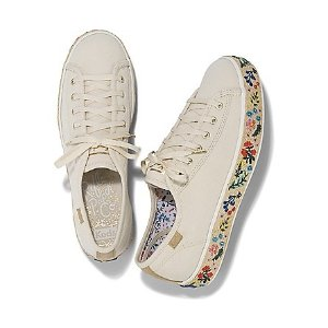 Kedsx Rifle Paper Co. Triple Kick Rosalie Embroidered Jute