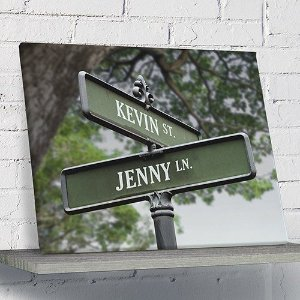 Personalized Love Street Canvas