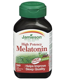 $8.54(原价$13.29)Jamieson Melatonin健美生速溶褪黑素5mg, 100粒