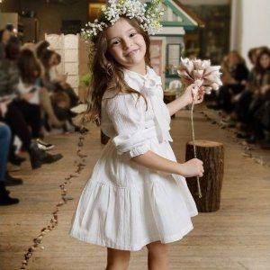 PastelCream Linen Suspender Skirt