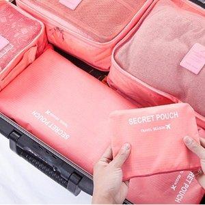 团购价$16  一套搞定行李箱Groupon 精选行李箱整理袋6件套 多色可选