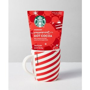 Starbucks薄荷热可可+咖啡杯套装