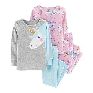 Carter's独角兽图案女童睡衣四件套