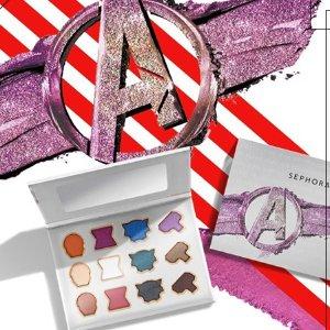 $36,新人享9折Sephora x 漫威 联名12色眼影盘 一个英雄一种颜色