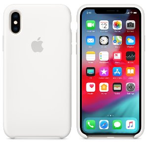 iPhone XS Silicone Case White