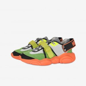 40f323c12 MoschinoFluo Teddy Shoes Sneakers - Teddy Fluo - FW19 COLLECTION - Moods -  Moschino | Moschino