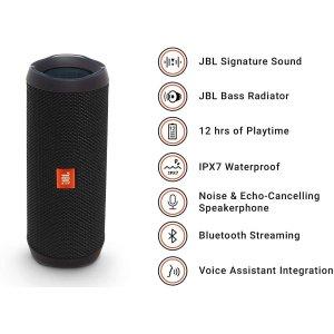 $99.98(原价$129.99)JBL Flip 4 防水蓝牙便携式音箱 强大立体声 黑色
