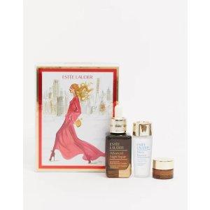 Estee Lauder精华50ml+精华水30ml+眼霜5ml小棕瓶3件套礼盒(价值£111)