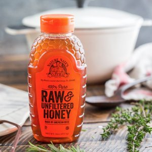 $7.84 Nature Nate's 100% Pure, Raw and Unfiltered Honey, 32 Ounce