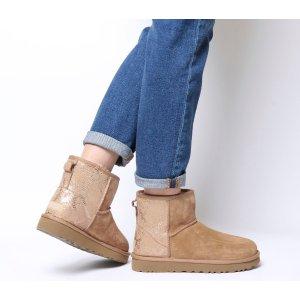 UGG Australia拼色低筒雪地靴